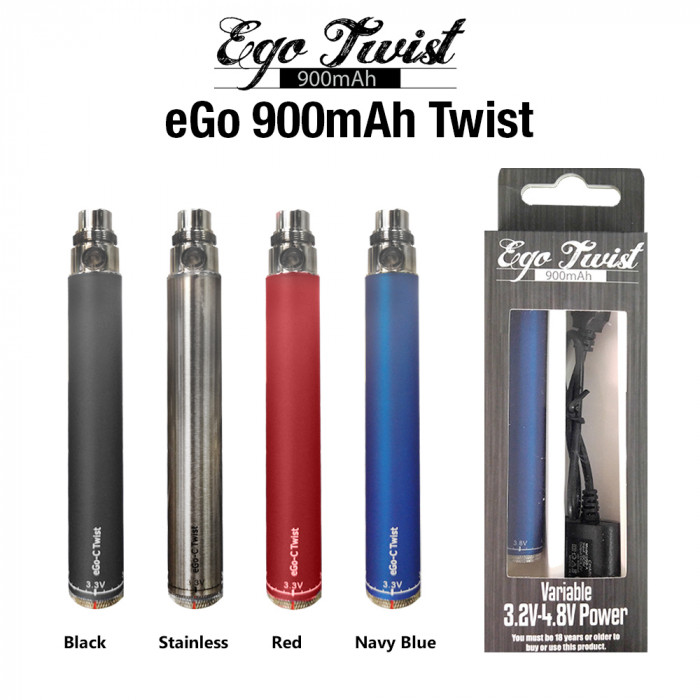 eGo 900mAh Variable Twist Battery Kit (USB line Included)