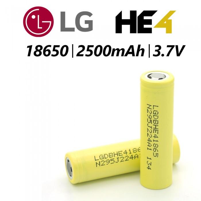 LG 18650HE4 35A 2500mAh Battery 1pcs