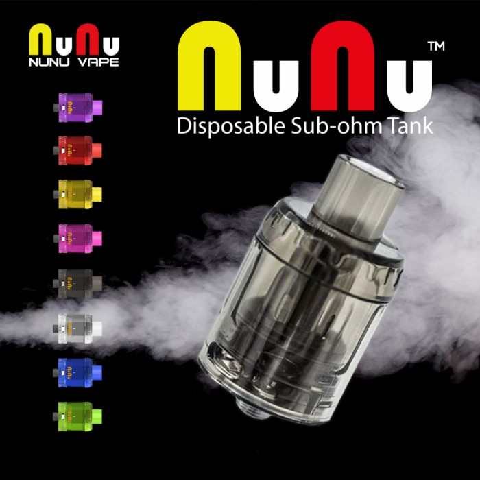 NuNu VAPE _  NuNu Disposable Sub-ohm Tank (3Pcs, MSRP $15.00 )