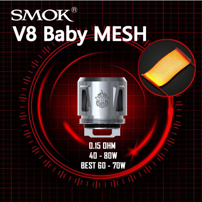 SMOK V8 BABY 0.15 Ω Mesh Coil [ 5 pcs ]