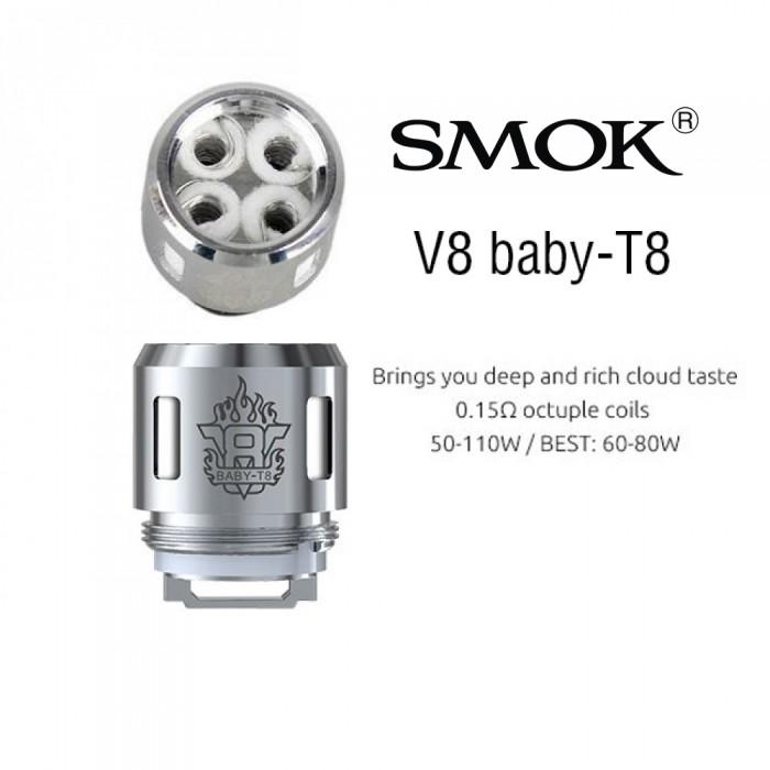 SMOK V8 BABY 0.15 Ω T8 Coil [ 5 pcs ]