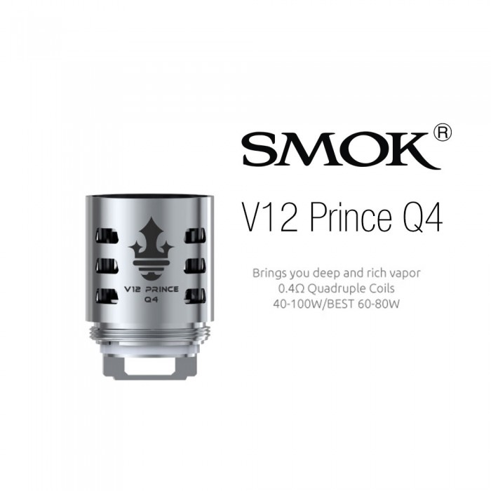 Smok V12 Prince-Q4 Coils (3pcs/pack)