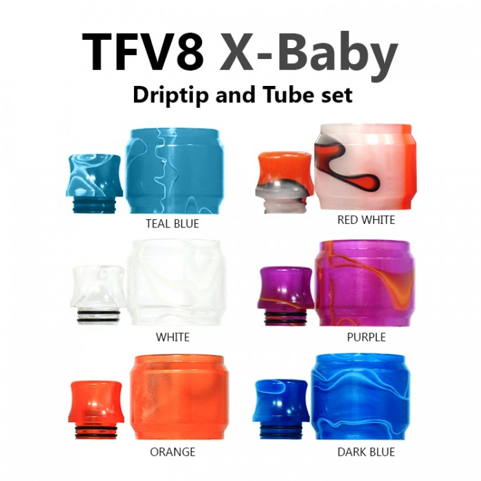 Replacement Tube & Driptip Set - X-Baby