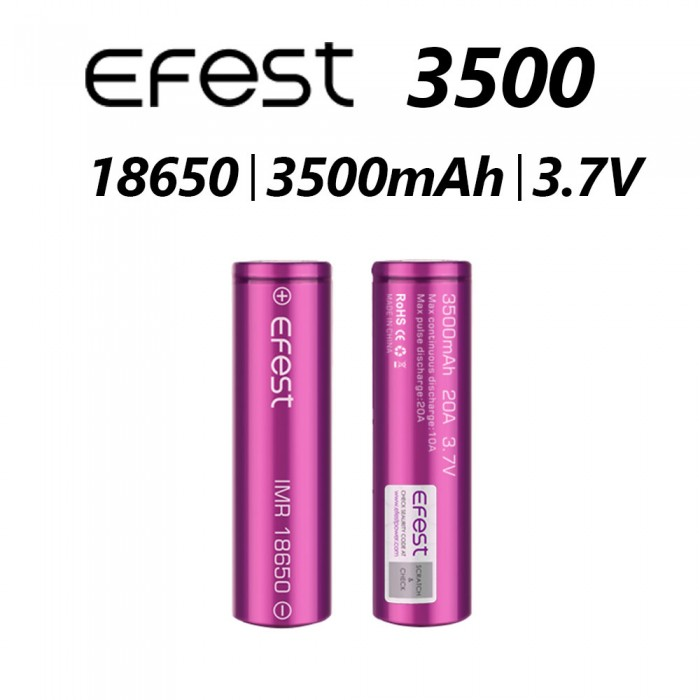 Efest 3500mAh New 20A Battery (Tear Resistant Wrap) 1pcs