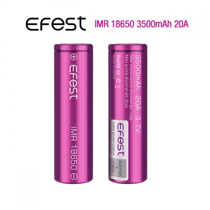 Efest 3500mAh New 20A Battery (Tear Resistant Wrap) 1pcs