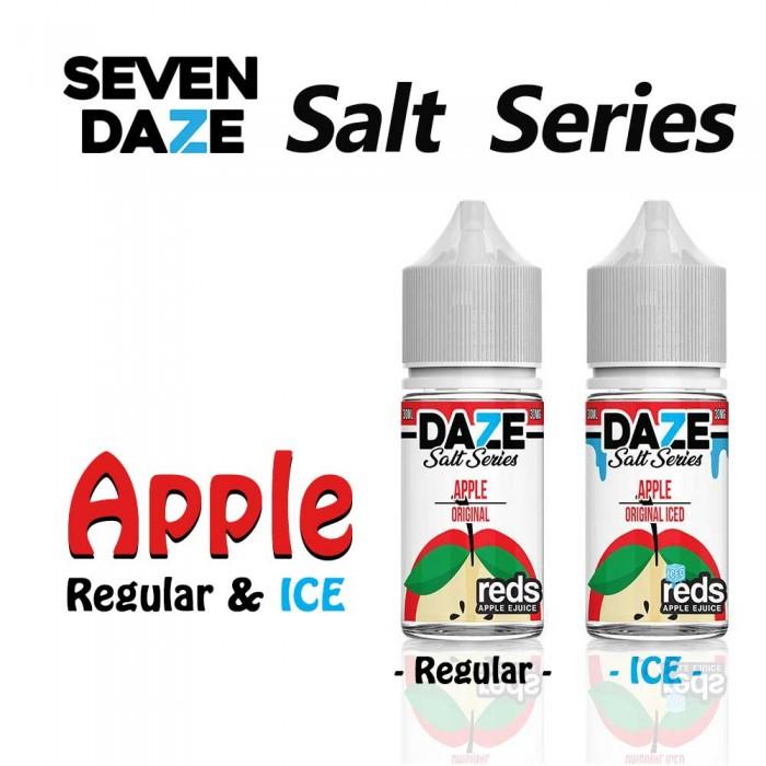 7 DAZE SALT SERIES Apple Regular and ICED - 30ml