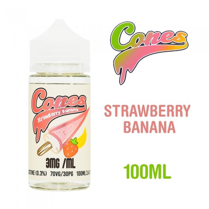 Cones Strawberry Banana - 100ml