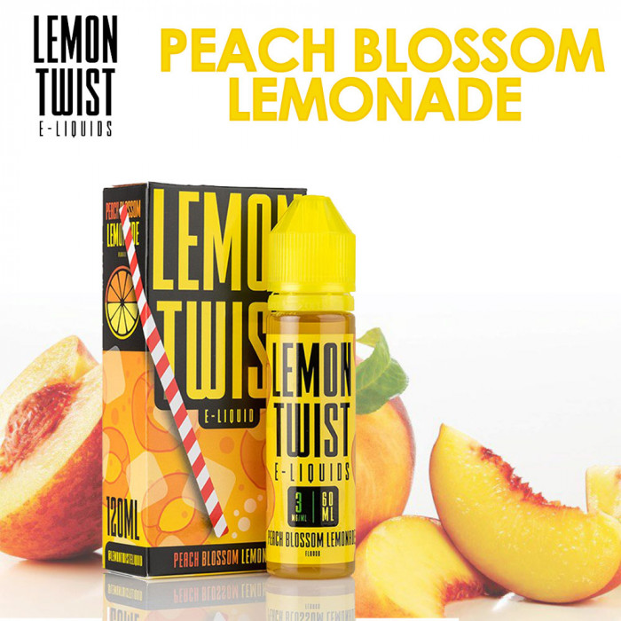 TWIST E-LIQUIDS LEMON TWIST Peach Blossom Lemonade _ 2 bottles of 60ml