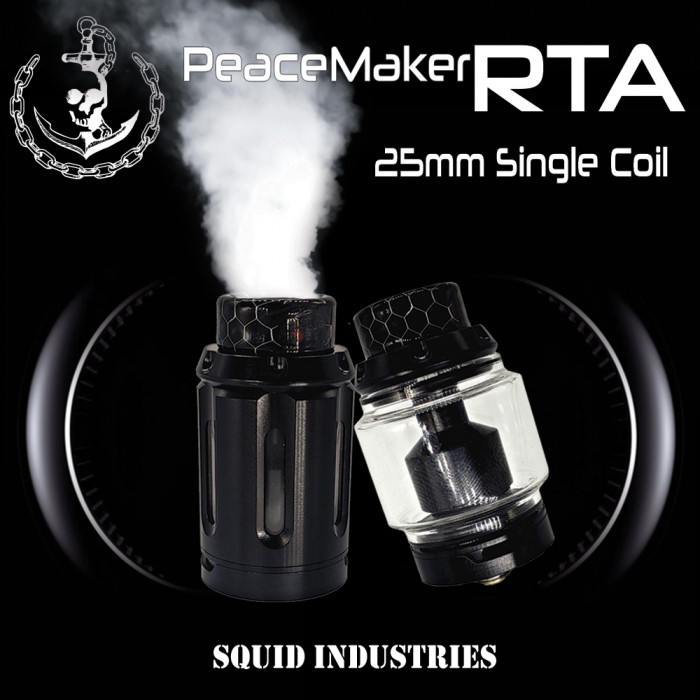 Squid Industries _ PeaceMaker RTA_25mm / Single Deck  (MSRP $47.99)